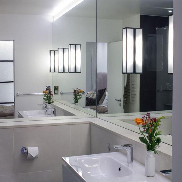 آینه کاری دیوار حمام